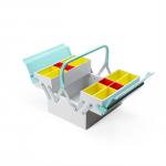 工具箱なんだけどインテリア感覚で使えるカラーリング Tool Box Mint