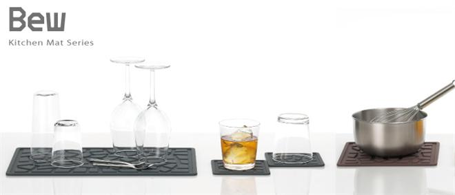 石畳みたいなキッチン用の水切りマット Bew キッチンマット003