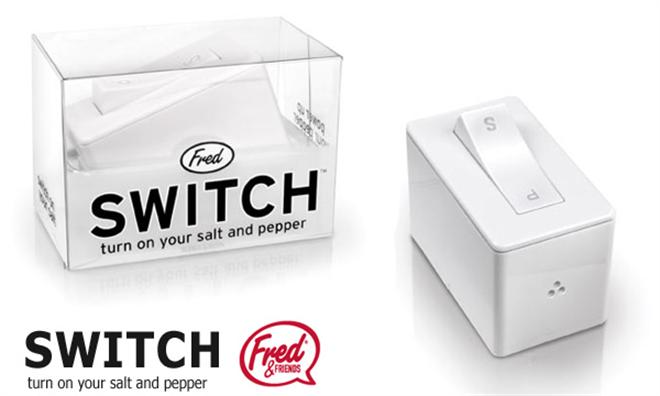 スイッチで塩コショウを切り替えできちゃう調味料入れ SWITHCH002