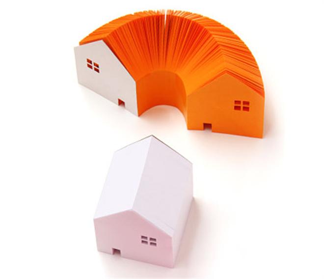 家の形をしたメモブロック HOME MEMO BLOCK001