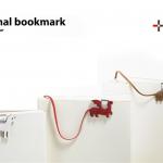 かわいらしい動物のしっぽがしおりに +d animal book mark