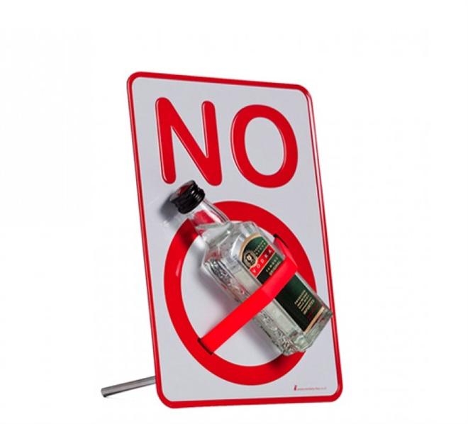 実物を封印しちゃう注意喚起の小さい標識 NO SIGN Desktop holder a message001