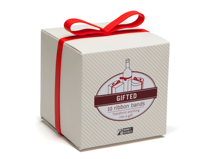 つけるだけでプレゼントのように リボンみたいなゴムバンド Gifted Ribbon Bands002