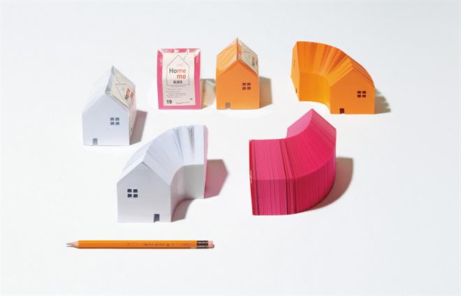 家の形をしたメモブロック HOME MEMO BLOCK003