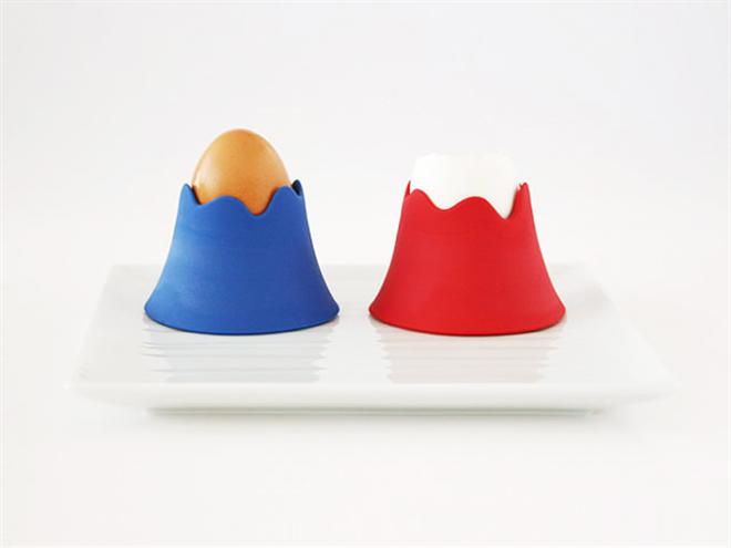 富士山の冠雪は美味しい卵 富士山のエッグカップ003