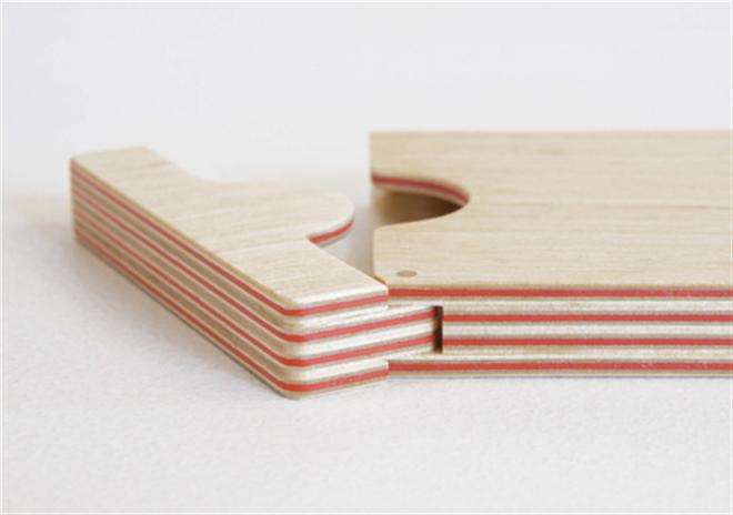 紙と木の合板から作られた名刺入れ FULL SWING CARD CASE003