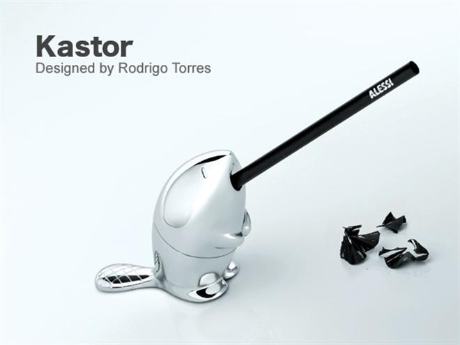 ビーバーが鉛筆をモグモグ ALESSI KASTOR 鉛筆削り004