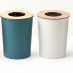 ゴミ袋を隠せる丸いゴミ箱 COLOR & WOOD DUST BOX