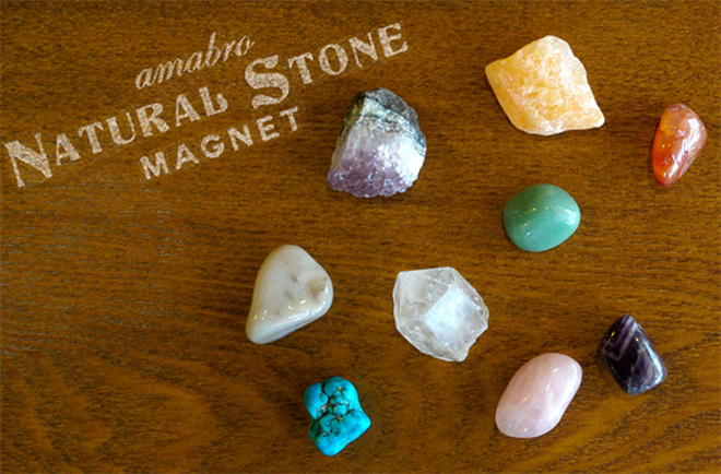 きれいな天然石のマグネット amabro Stone Magnet001