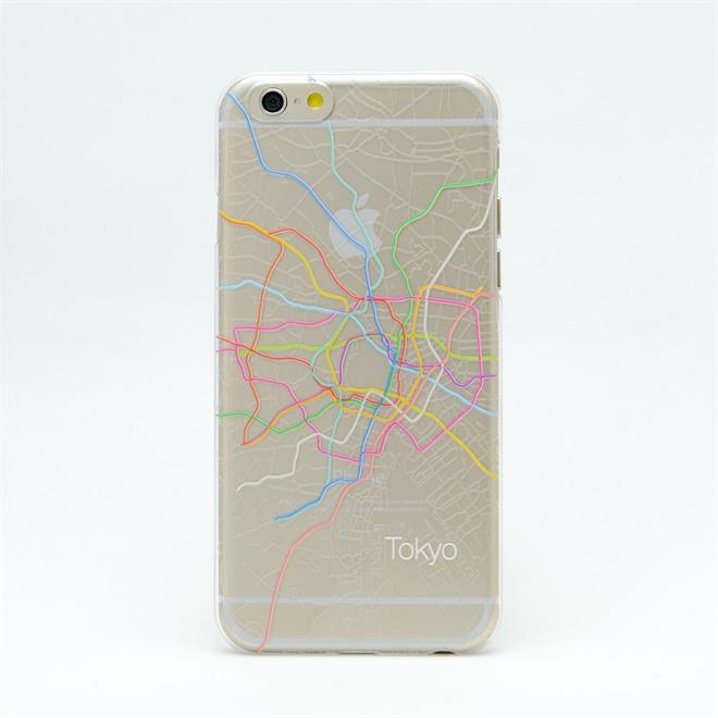 主要都市の地下鉄の路線図と航空図が描かれたiPhone6ケース modref tube airline001