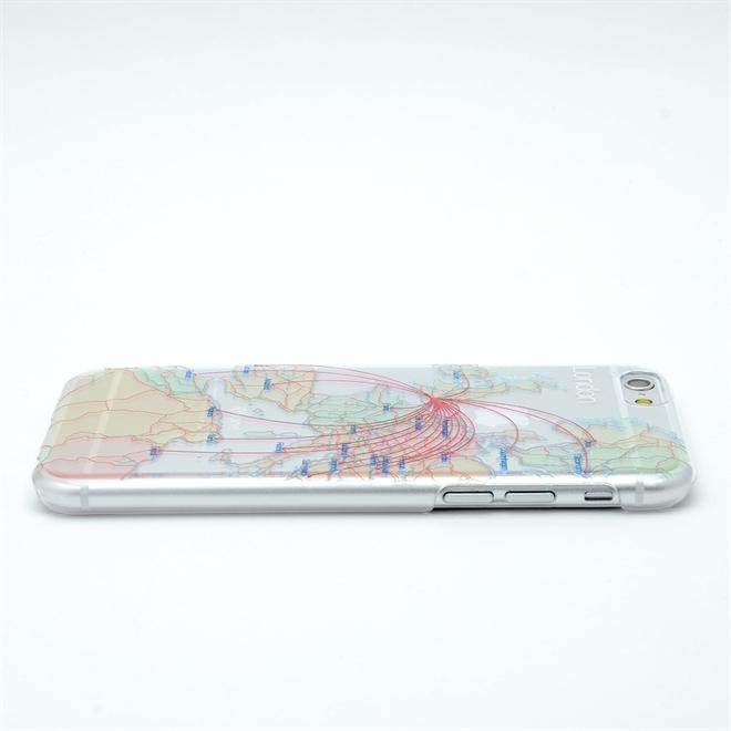 主要都市の地下鉄の路線図と航空路線図が描かれたiPhone6ケース modref tube airline001