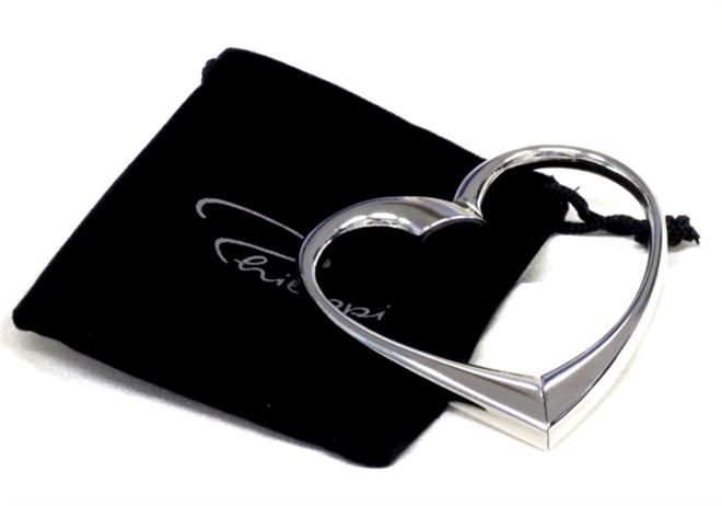 ハートをくるりと回せばS字のハンガーに変身 ハート型のバッグハンガー Philippi Heart Bag Hanger001