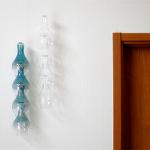 ガラスが連なる四連の風鈴 Timbre bellflower