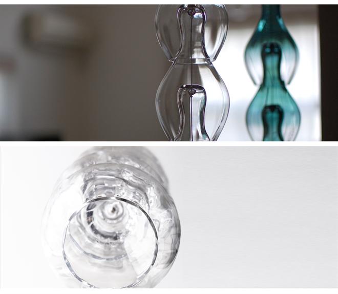 ガラスが連なる風鈴 Timbre bellflower002