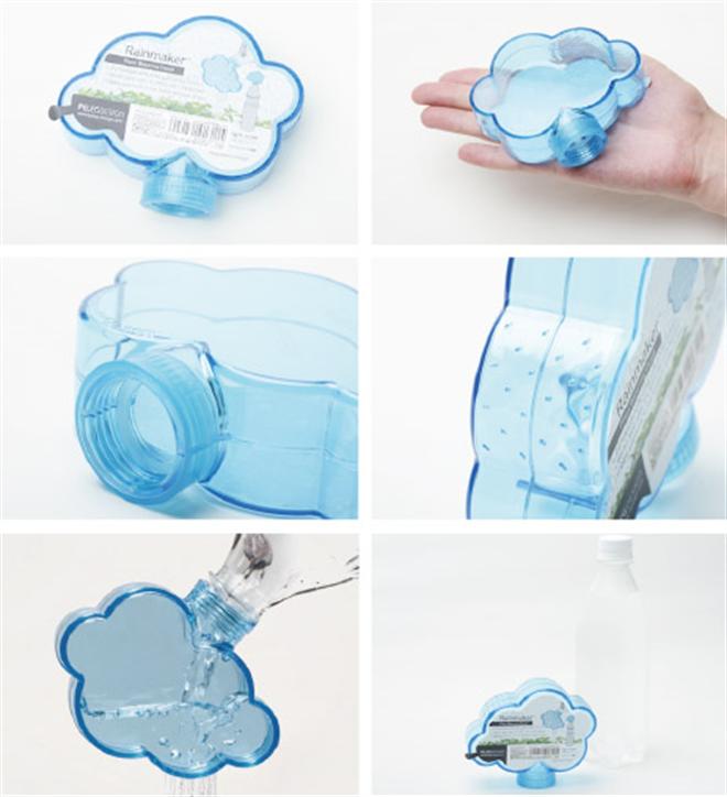 ペットボトルに取り付ける緑に水を与える雨雲 MONKEY BUSINESS Rainmaker003