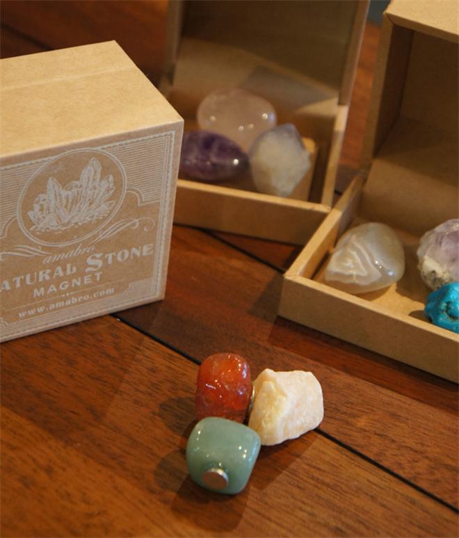きれいな天然石のマグネット amabro Stone Magnet004