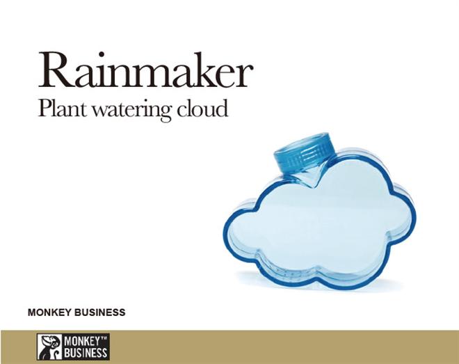 ペットボトルに取り付ける緑に水を与える雨雲 MONKEY BUSINESS Rainmaker004