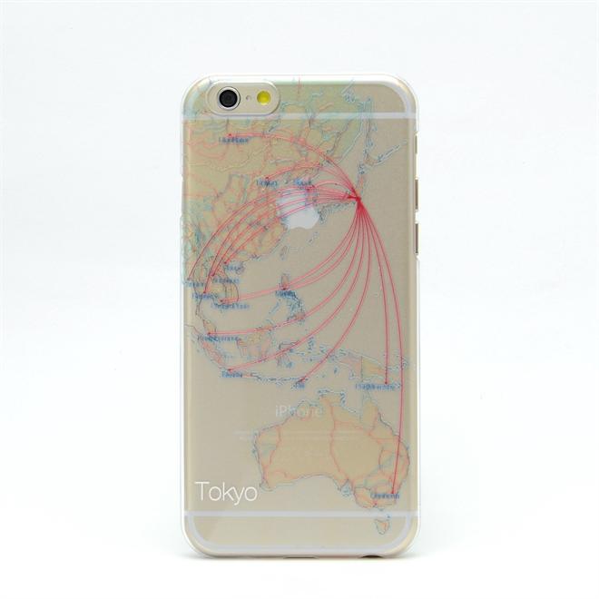 主要都市の地下鉄の路線図と航空図が描かれたiPhone6ケース modref tube airline005