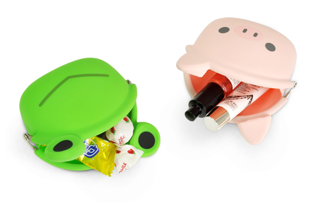 カバンのお供に シリコン製のかわいい動物のポーチ mimiPOCHI Friends005