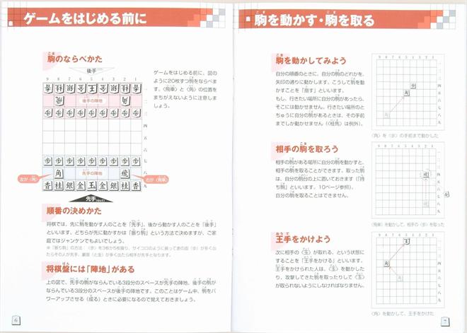 駒の動き方がわかりやすく書かれた将棋駒 NEW スタディ将棋005