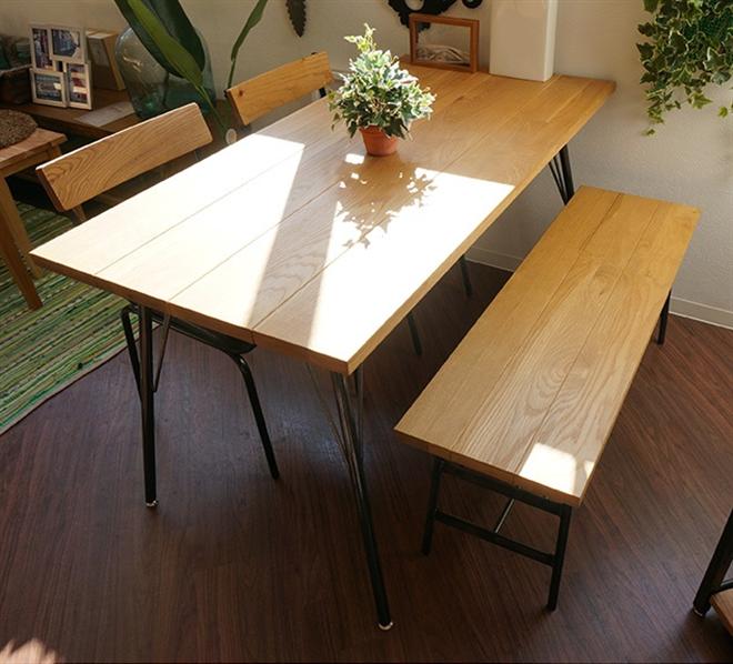 無垢の天然木をオイルフィニッシュで仕上げたダイニングテーブル&チェア BIMAKES SHINBASU DINING006
