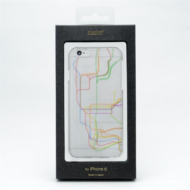 主要都市の地下鉄の路線図と航空図が描かれたiPhone6ケース modref tube airline006
