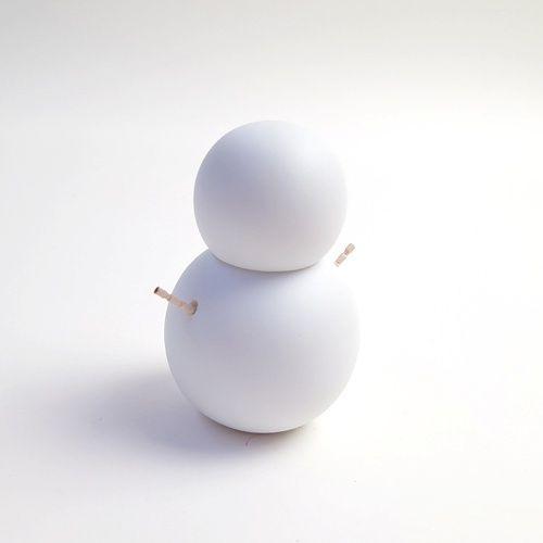 手がつまようじの雪だるま 磁器のつまようじ入れ 楊枝だるま