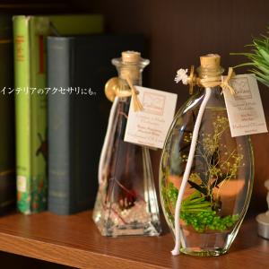 色とりどりの草花や貝をボトルに閉じ込めたアロマキャンドル Collines de Provence003