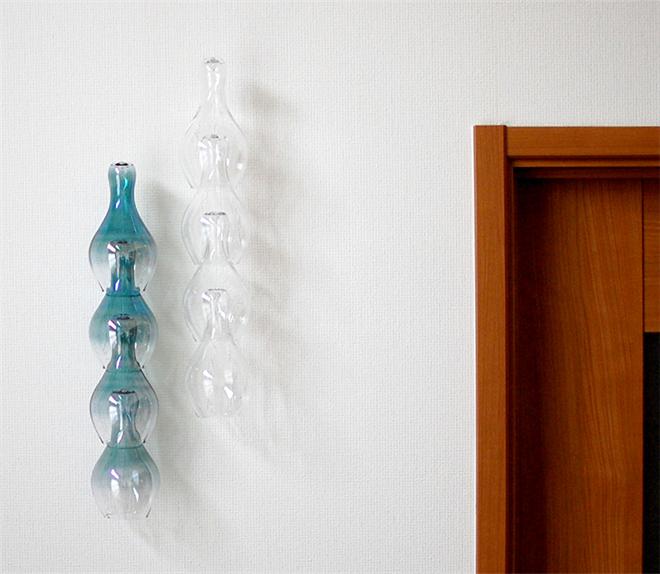 ガラスが連なる風鈴 Timbre bellflower001