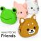 カバンのお供に シリコン製のかわいい動物のポーチ mimiPOCHI Friends001