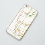 主要都市の地下鉄の路線図と航空路線図が描かれたiPhone6ケース modref tube airline