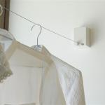 部屋のスペースを有効に使える ワイヤーを収納できる室内用物干しワイヤー pid4M