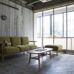 シンプルな木製のローテーブル half center table SIEVE