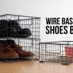 レトロで無骨なシューズバスケット WIRE BASKET SHOES BOX